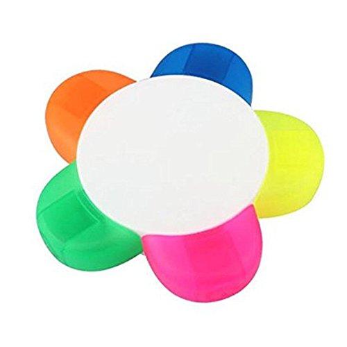 Missley Colorful Flower Surligneur 1 PCS Surligneur Couleur Marqueur Stylos Pour Colorier Et Étudier Fournitures