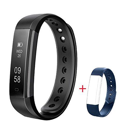 Fitness Armband Herzfrequenz, Showyoo Fitness Tracker Aktivitätstracker - Schlafmonitor - Schrittzähler GPS Uhr Multisport - Musik Fernkamera - Wasserdicht Bluetooth Smartwatch für Android iPh