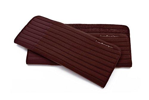 TransHorse Sport Bandagierunterlagen Memory Schaum extrem stoßabsorbierend Größe S-L in 5 Farben (L (45x55 cm), Black Coffee) -