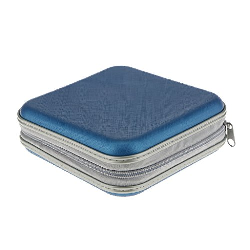 Generic Blue 40 Disc CD DVD Case Storage Bag Holder Box Cover Organizer Records Pouch Wallet Put-away Box Tidy Clean  available at amazon for Rs.475