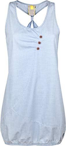 alife and Kickin Cameron D Dress Damen Sommerkleid, Jerseykleid, Strandkleid, Kleid, Light Denim Stripes, M Jeans Kleid