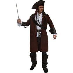 Maylynn 12104 Jack - Costume di carnevale da pirata con cappello e accessori - uomo - marrone - L/XL