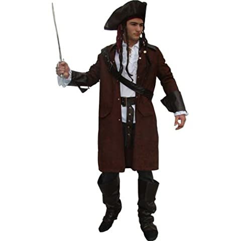 Maylynn 12104 – Disfraz de pirata traje de pirata con sombrero y accesorios Jack Disfraz de carnaval hombres talla L