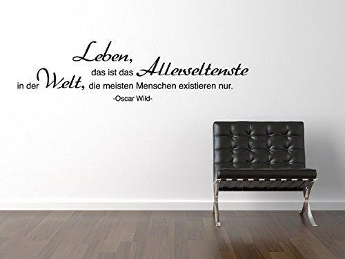 Oscar Wild Leben Wandtattoo Black Certified Freak