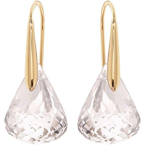 Swarovski orecchini lunar, bianco, placcato oro rosa