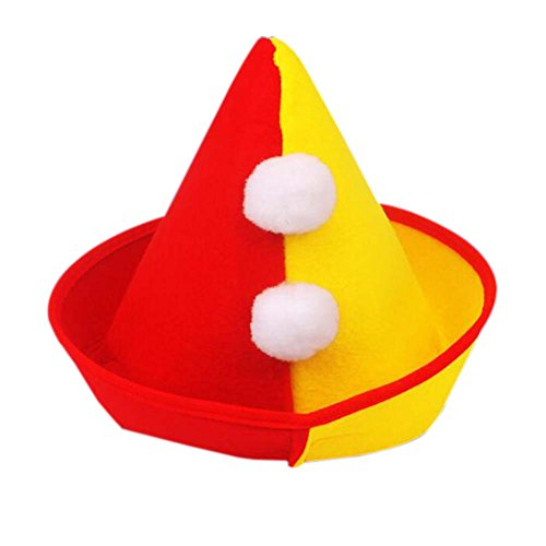 Halloween-Hut Clown Cap Clown Zylinderhut-Partei-Kostüm Karneval Cap Clownhut