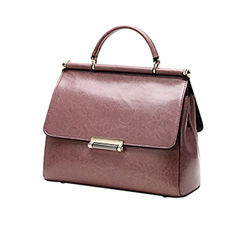 Xinmaoyuan Sacs à main pour femme Sacs à main en cuir sac à main Fashion Kraft Cire Huile Mesdames épaule Messenger sac carré petit Purple