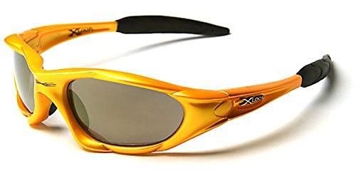X-Loop Loop® Sonnenbrille-Die neue Kollektion-Modell Sport-Sonnenbrille/ESQUI/Sport-Schutz UV400(UVA & UVB) (schwarz), gelb