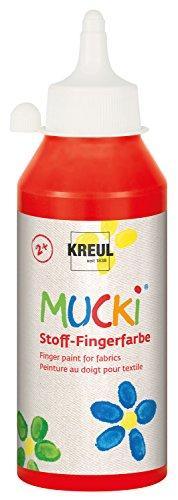 KREUL MUCKI 28403Design-Galaxy-Plástico Dedos Color, 250ml, Color Rojo