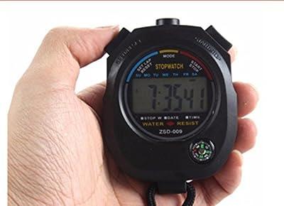 Bomien Digital LCD Timer Professioneller Sport Chronograph Zähler Stoppuhr mit Alarm für Leichtathletik, Schwimmen, Radfahren Zeit Checks