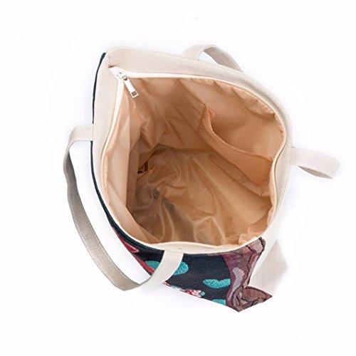 Igemy Schmetterling Bedruckte Leinwand Tote Casual Beach Taschen Frauen Einkaufstasche Handtaschen Purple