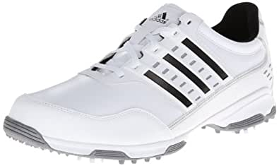 adidas Men's Golflite Traxion Golf ShoeWhite/Black/Metallic Silver,13 M US