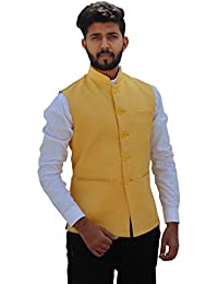 c8d8a35e8 Amazon.in: Yellows - Nehru Jackets / Ethnic Wear: Clothing & Accessories