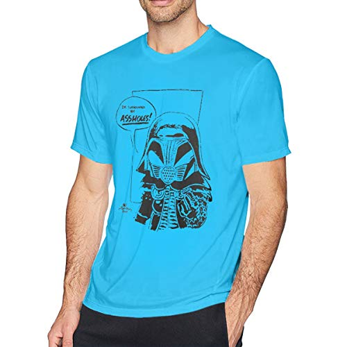 Men's Cotton Short-Sleeved T-Shirt Spaceballs I'm Surrounded by Assholes Spider Baby Blue S - Black Spider-shorts
