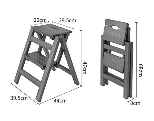 Scaletta In Legno Pieghevole : Jia he scaletta in legno massello cucina scalette in legno