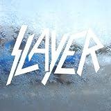 Aufkleber Slayer White Decal Metal Band Car Window Laptop White Sticker