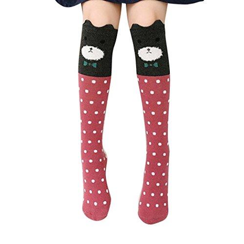 Calcetines Socks by BaZhaHei, Niños Chica Animal Patrón Rodilla Calcetines Calcetines Lindos de calcetín Socks para Mujer Patrón de Animales Infantiles Jacquard en Medias Calcetines