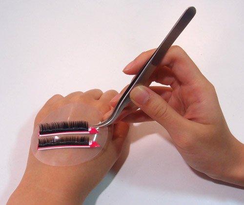 Beauty7 Coussin Silicones Gel de Silic Antidérapage Pour Porte Extensions de cils Faux Cils Rond Transparent