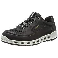 ECCO ECCO Men's Cool 2.0 Leather Gore-Tex Fashion Sneaker, Low-Top Sneaker Men's, Black, 8.5 EU