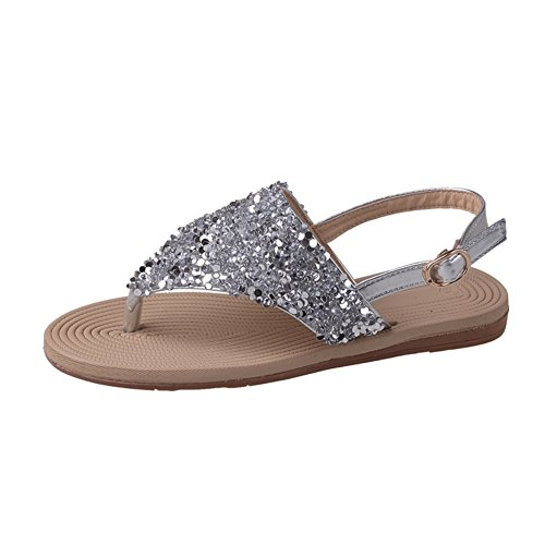 Sommer tragen mode sandalen/Flat pailletten clip füße pantoffeln A