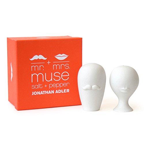 Jonathan Adler - Mr. & Mrs. Muse Salz- & Pfefferstreuer aus Keramik im Geschenkset vom New Yorker Star Designer Jonathan Adler - Jonathan Adler Designer