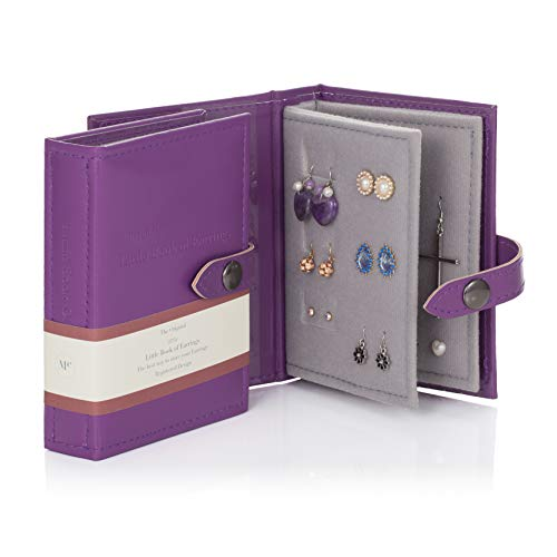 Small Size PURPLE - Little Little Book of Earrings - A Small Book for Keeping Your Earrings Safe!