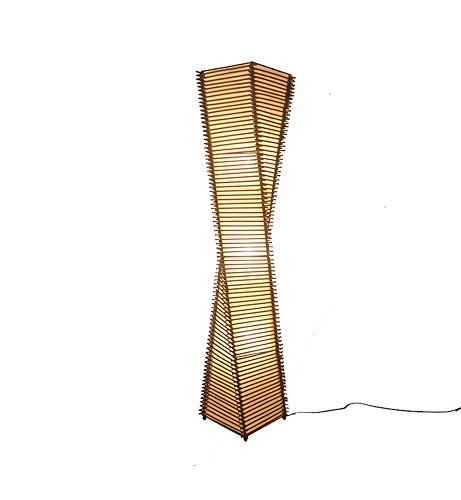 Rattan Stehlampe Moderne chinesische Wohnzimmer Studie Schlafzimmer Hotel Bamboo Cane Kunst Südostasien E27 Durchmesser 23 × Höhe 128 cm Brown (Schlafzimmer Cane)
