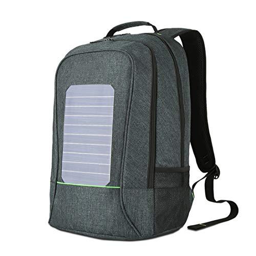 CCDYLQ Solar Computer Rucksack Wasserdicht und Anti-Diebstahl, Laptop-Rucksack mit USB Charging Port Waterproof Travel Rucksack School Daypack für Laptop,Green