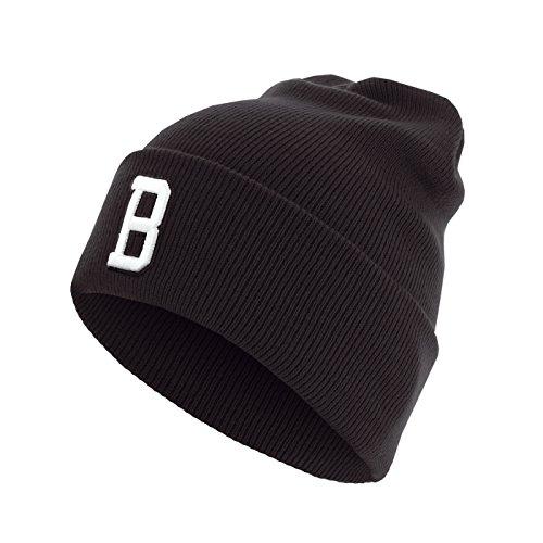 Master Dis C3 Lettre Cuff Knit Bonnet ABC Lettres bonnet B