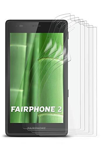 5X FairPhone 2   Schutzfolie Matt Bildschirm Schutz [Anti-Reflex] Screen Protector Fingerprint Handy-Folie Matte Bildschirmschutz-Folie für FairPhone 2 Bildschirmfolie