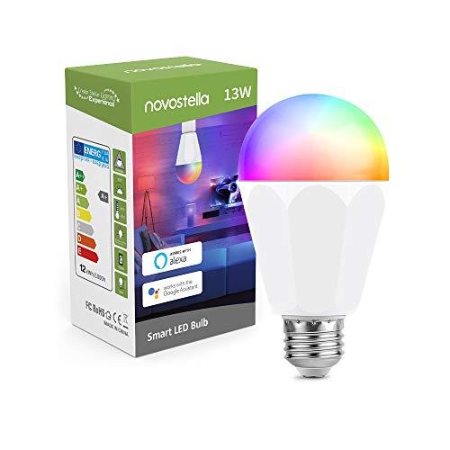 1300LM Lampadina Smart LED E27 Intelligente WiFi, 120W Lampadina=Novostella 13W RGBCW LED Multicolore, RGB+Tunable White (2700-6500K), Decorazione di Halloween Per iOS Android con Alexa/Google