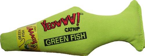 Rosewood 63119 Yeowww! Katzenspielzeug grüner Fisch
