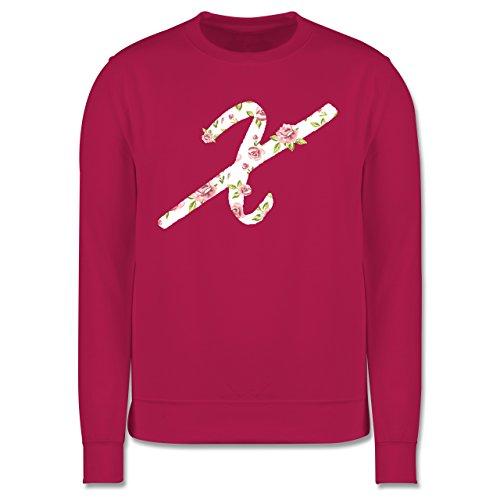 Anfangsbuchstaben - X Rosen - Herren Premium Pullover Fuchsia