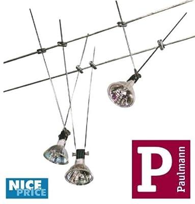 Paulmann NP Seilsystem, 3 x 20W, GU5,3 230/12V, 60VA, c von Paulmann auf Lampenhans.de