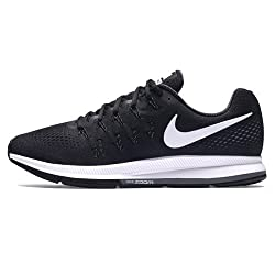 Nike Mens Air Zoom Pegasus 33 Black & White Running Shoes (7 UK/India)