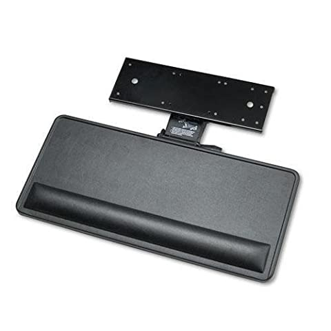 Extended Articulating Keyboard/Mouse Platform, 27w x 12d, Black, Sold as