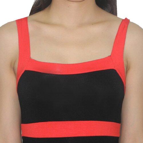 Sexy Me Femme Thai Exotic Sexy Stretchy Fit Clubwear Mini Dress Black & Red