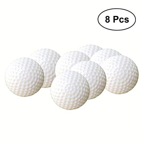 TOYMYTOY 8 stücke Golfbälle Kunststoff Spielzeug Indoor Outdoor für Kinder (weiß)