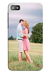 Omnam Couple Kissing In Beautiful Wather In Garden Printed Designer Back Cover Case For BlackBerry Z10