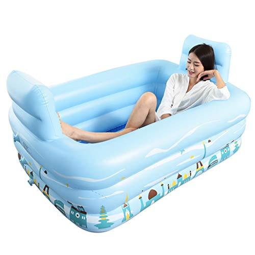 Aufblasbare Badewanne, doppelte Wanne, die das verdickende Erwachsene Baden-Pool-Blau faltet (größe : 150cm*112cm*50cm)