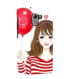 Vizagbeats girl with smiley baloon Back Case Cover for Lenovo K4 Note