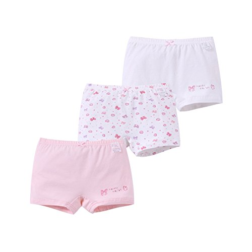 Cheerykids Girls Boyshort Hipster Panties Cotton Boxer Briefs Underwear Pack of 3