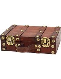 Vintiquewise Estilo Antiguo Maleta/Caja Decorativa, pequeño/Mini, ...