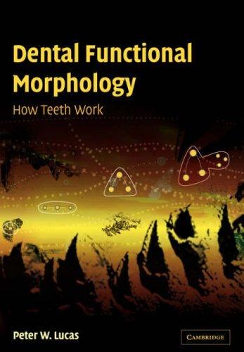 Dental Function Morphology: How Teeth Work by Peter W. Lucas (2008-08-21)
