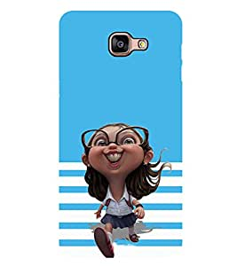 ifasho Designer Phone Back Case Cover Samsung Galaxy A9 (2016) :: Samsung Galaxy A9 Pro (2016) ( Owl Cute Look Blue Theme Big Eyes )