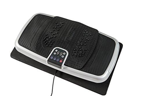 MOTIVE FITNESS by U.N.O. Unisex– Erwachsene Deluxe Vibrationstrainer, schwarz-silberfarben, 71,3 x 39,5 x 15,4 cm
