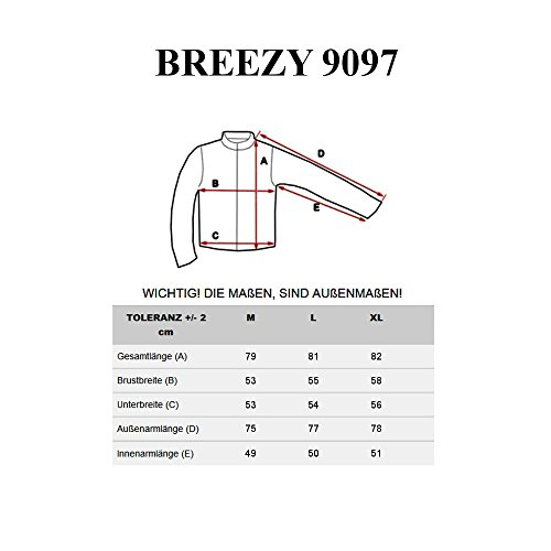 BOLF – Sweat-shirt – Manches longues – Fermeture éclair – BREEZY 9097 – Homme Kaki