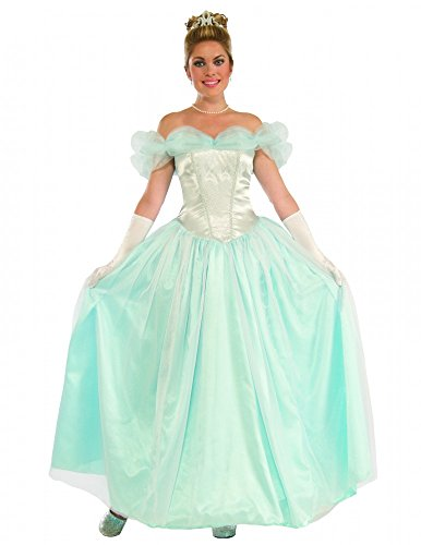 Deluxe Damen Kostüm - Happily Ever After Princess - Cinderella Frozen Elsa Prinzessin Gr. 36/38 (Deluxe Disney Princess Kleider)
