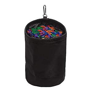 Meowoo Wäscheklammer Aufbewahrungstasche Wäscheklammerbeutel, Geeignet für Bad, Küche, Outdoor-Schwarz(1 Stück)