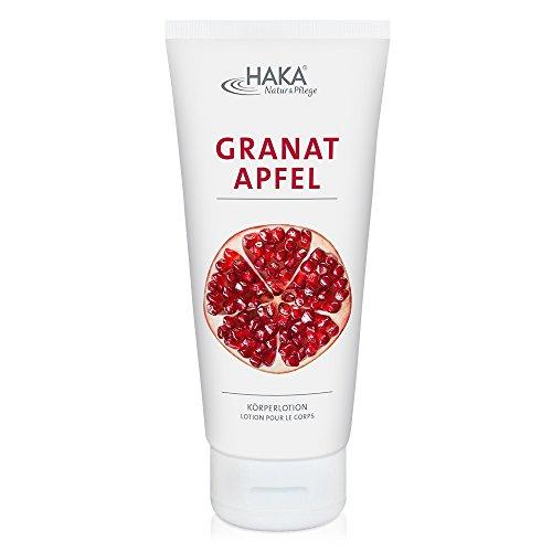 HAKA Bodylotion Granatapfel I 200 ml I Exotische Körperlotion mit Sheabutter I Schnelleinziehende Feuchtigkeitscreme I Ohne Parabene I Ohne PEGs